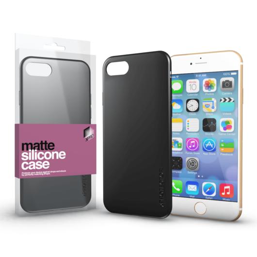 Szilikon matte tok ultra vékony fekete Apple iPhone 7 Plus / 8 Plus készülékhez