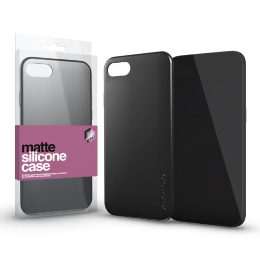 Szilikon matte tok ultra vékony fekete Apple iPhone Xs Max készülékhez