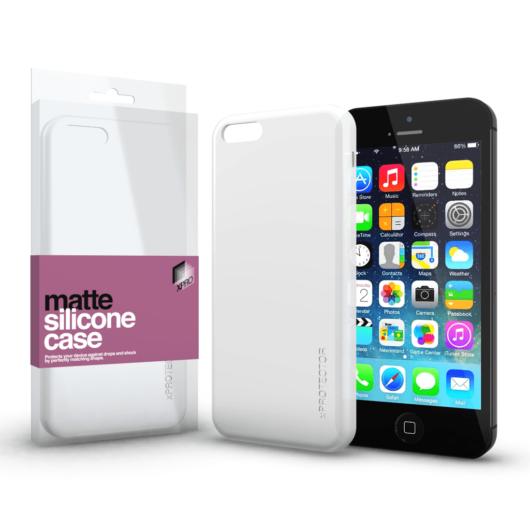 Szilikon matte tok ultra vékony opál fehér Apple iPhone 5 / 5S / SE (2016) készülékhez