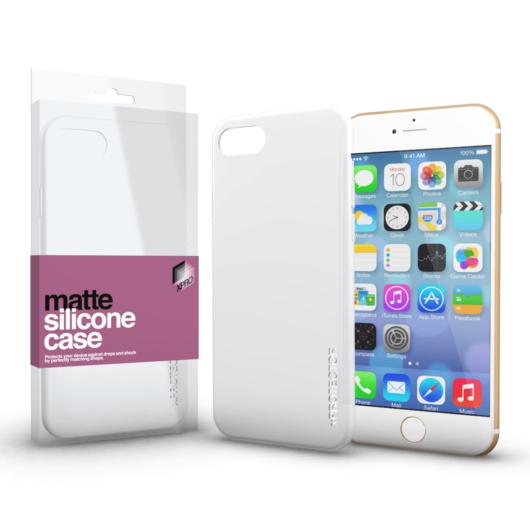 Szilikon matte tok ultra vékony opál fehér Apple iPhone 6 / 6S készülékhez
