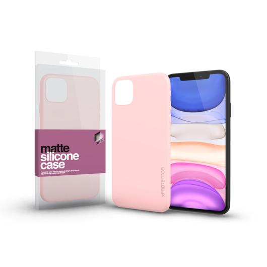 Szilikon matte tok ultra vékony Púder pink Apple iPhone 11 Pro készülékhez