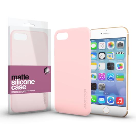 Szilikon matte tok ultra vékony Púder pink Apple iPhone 7/8/SE (2020) készülékhez