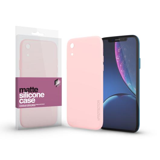 Szilikon matte tok ultra vékony Púder pink Apple iPhone Xr készülékhez