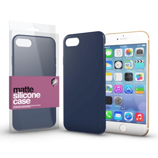 Szilikon matte tok ultra vékony sötétkék Apple iPhone 7/8/SE (2020) készülékhez