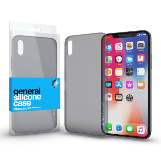 Szilikon tok Case Füstszürke ultra vékony 0.33 mm Apple iPhone X készülékhez