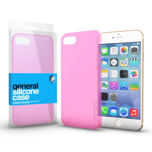 Szilikon tok Case Pink ultra vékony 0.33 mm Apple iPhone 7 Plus / 8 Plus készülékhez