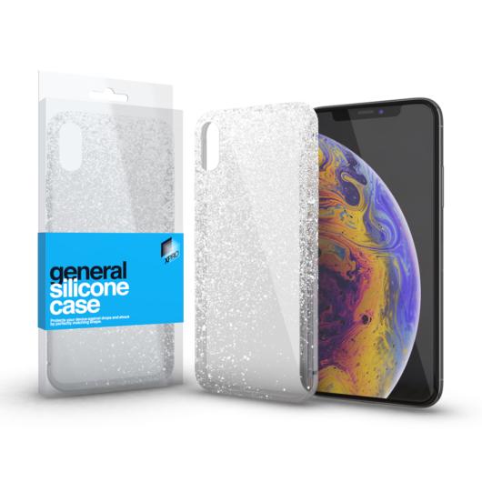 Szilikon tok Case ultra vékony csillámos átlátszó Apple iPhone X / XS