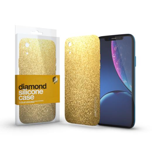 Szilikon tok (Diamond) Arany Apple iPhone Xr készülékhez