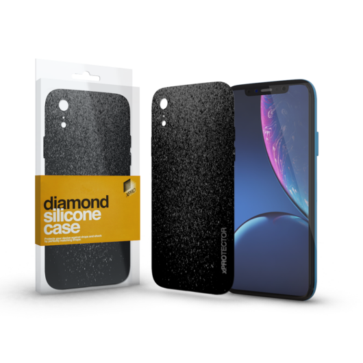 Szilikon tok (Diamond) Fekete Apple iPhone Xr készülékhez