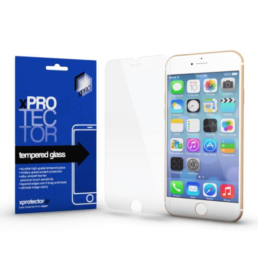 Tempered Glass 0.33 Silicone 3D White (FG) kijelzővédő Apple iPhone 7 Plus / 8 Plus készülékhez