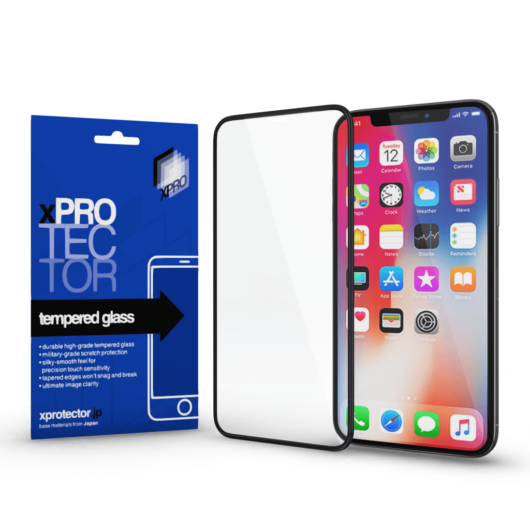 Tempered Glass full 3D White (FG) hátlap Apple iPhone X készülékhez