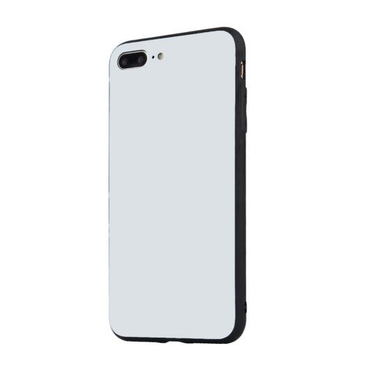 Tempered Glass tok fehér Apple Iphone 7 Plus / 8 Plus készülékhez