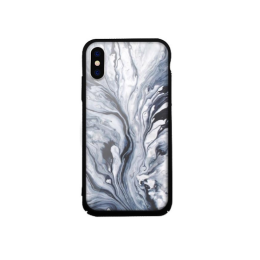 Tempered Glass tok szürke (Marble) Apple Iphone 7Plus/8Plus készülékhez