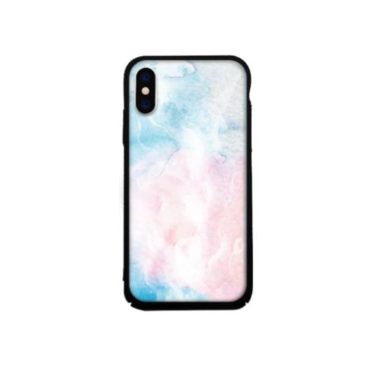 Tempered Glass tok lila (Marble) Apple Iphone Xs Max készülékhez