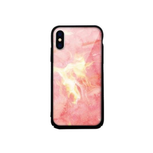 Tempered Glass tok piros (Marble) Apple Iphone Xs Max készülékhez