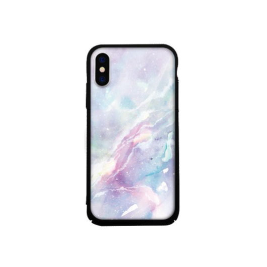Tempered Glass tok violet (Marble) Apple Iphone Xs Max készülékhez