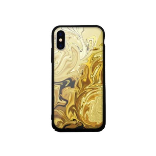 Tempered Glass tok arany (Marble) Apple Iphone Xs Max készülékhez