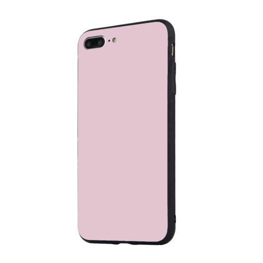 Tempered Glass tok Pink Apple Iphone 7 Plus / 8 Plus készülékhez