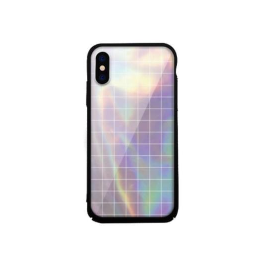 Tempered Glass tok lila (Square) Apple Iphone X/Xs készülékhez