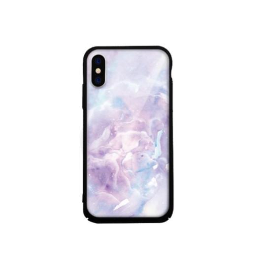 Tempered Glass tok lila (Stone) Apple Iphone Xs Max készülékhez