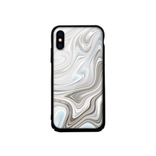 Tempered Glass tok szürke (Stone) Apple Iphone Xs Max készülékhez