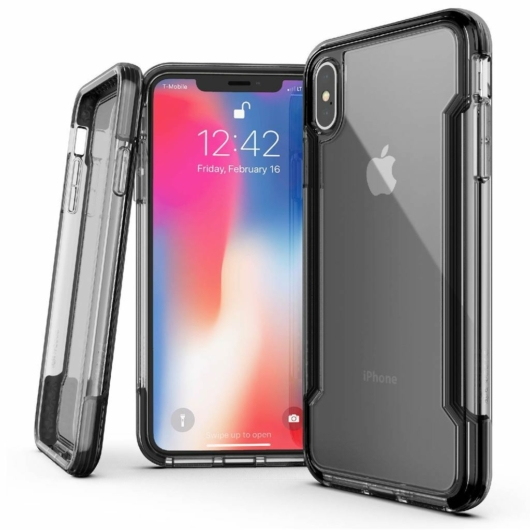X-Doria Defense Clear védőtok Apple iPhone XS Max készülékhez. Black