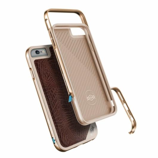 X-Doria Defense Lux védőtok Apple iPhone 6/6S készülékhez. Barna Krokodilbőr