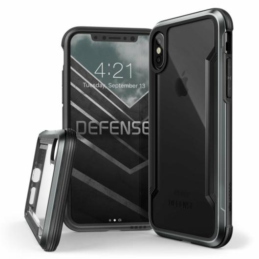 X-Doria Defense Shield védőtok Apple iPhone X/XS készülékhez. fekete